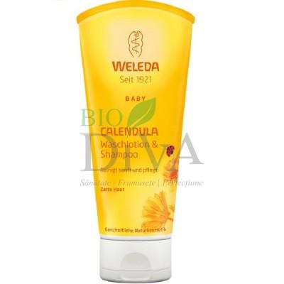 Loţiune de curăţare şi şampon cu gălbenele Weleda