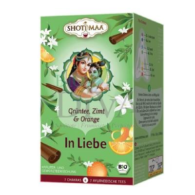 Ceai cu ghimbir, portocală și scorțișoară Chakra 4 Loving Shoti Maa