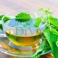 Ceai cu ceai verde, macha, urzică și fenicul