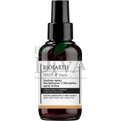 Spray pentru păr ondulat și creț cu ceai verde Bioearth