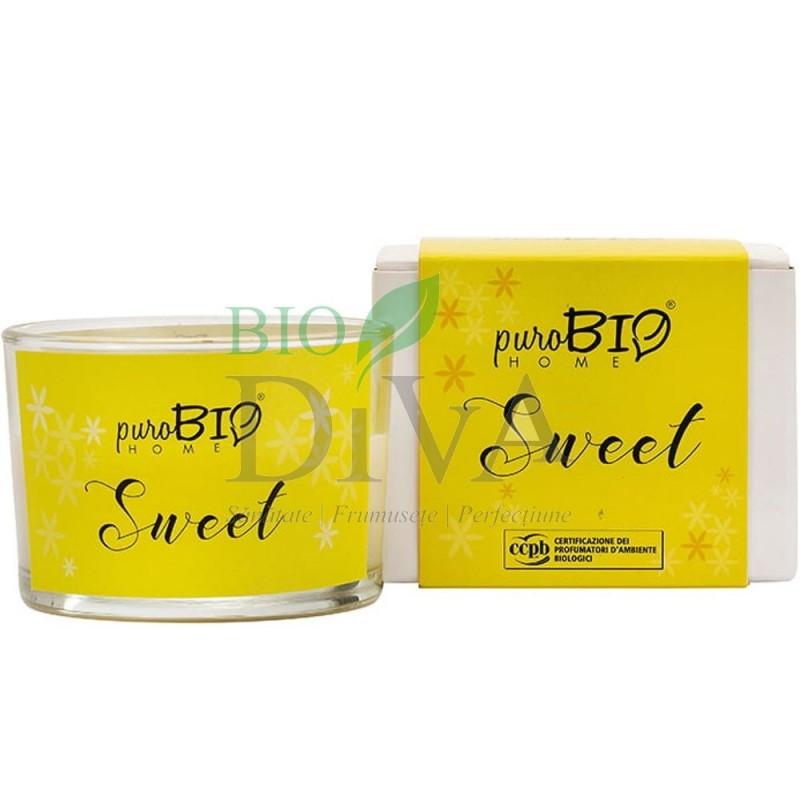 Lumânare parfumată bio Sweet 01 PuroBio Home