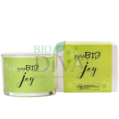 Lumânare parfumată bio Joy 10 PuroBio Home