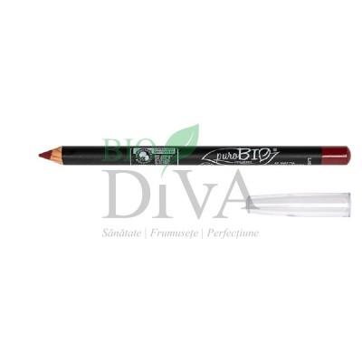 Creion pentru buze și ochi Scarlet Red 47 PuroBio Cosmetics