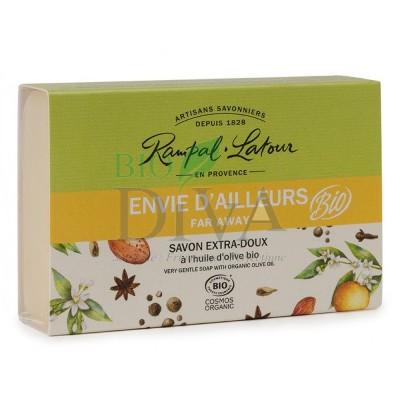 Săpun bio cu migdale și flori de portocal Envie D'ailleurs Rampal Latour