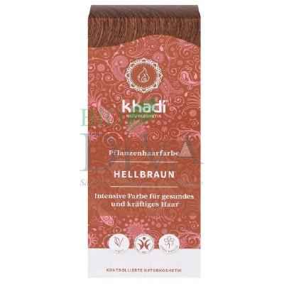 Henna vopsea de păr naturală Șaten Deschis KHADI
