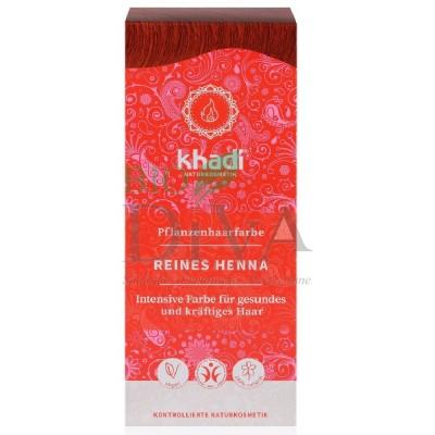 Henna vopsea de păr naturală roșu KHADI