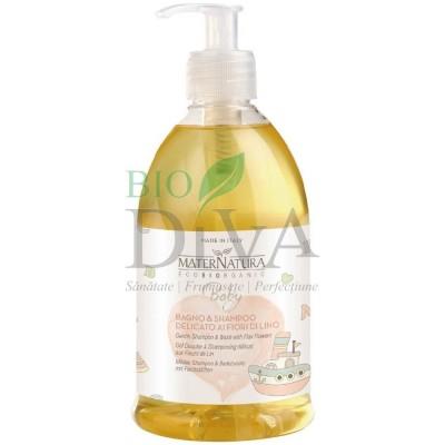 Gel de duș și șampon pentru bebeluși și copii MaterNatura