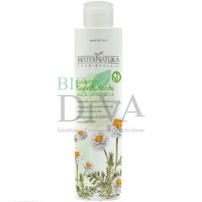 Șampon pentru păr uscat cu mușețel MaterNatura
