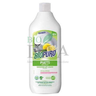 Detergent hipoalergenic pentru vase cu lămâie BIOPURO