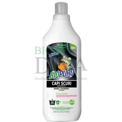 Detergent hipoalergenic pentru rufe negre și închise la culoare 1L BIOPURO