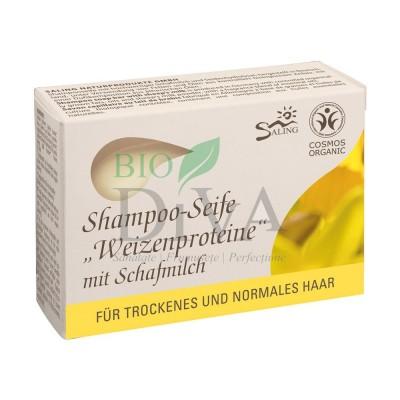 Șampon solid cu lapte de oaie și proteine din grâu păr normal sau uscat Saling Naturprodukte