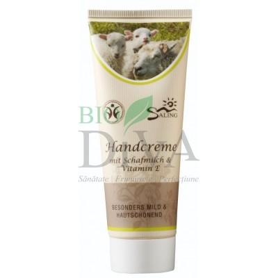 Cremă de mâini cu lapte de oaie și vitamina E Saling Naturprodukte