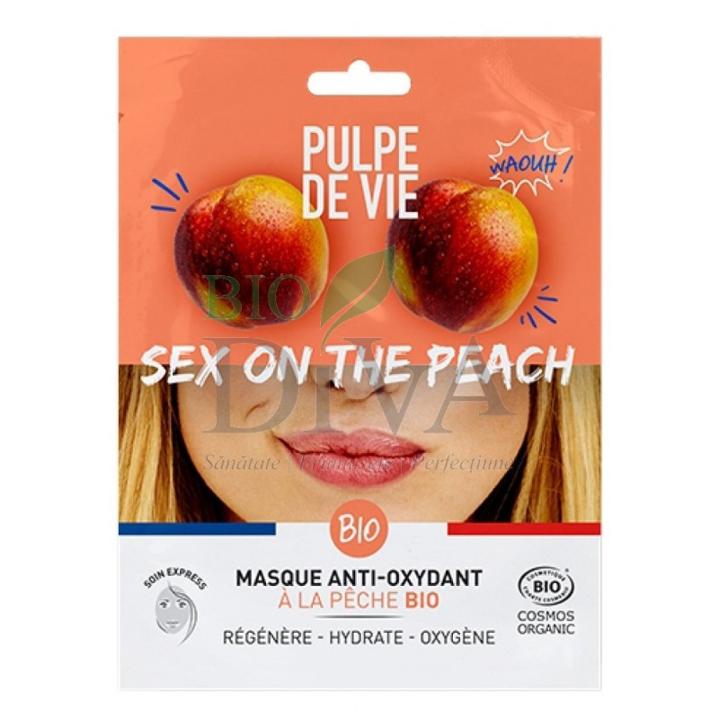 Mască antioxidantă și revitalizantă Sex on the Peach Pulpe de Vie