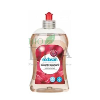 Detergent de vase lichid bio cu rodie 500ml SODASAN