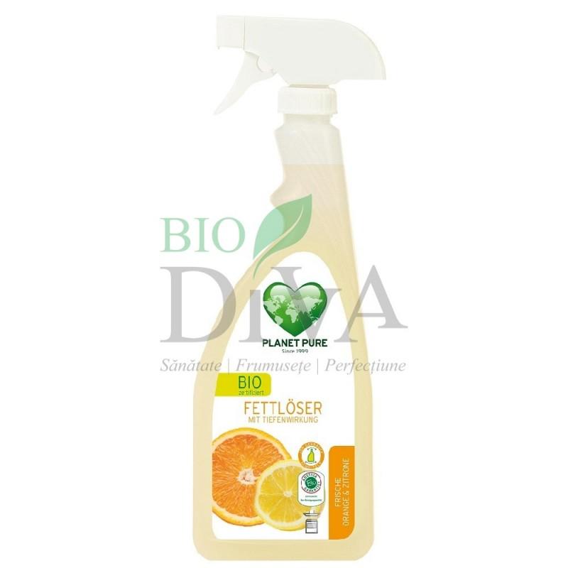 Degresant spray cu lămâie și portocală 510ml Planet Pure