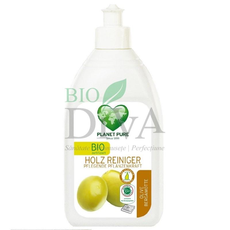 Detergent pentru lemn cu măsline și bergamotă Planet Pure
