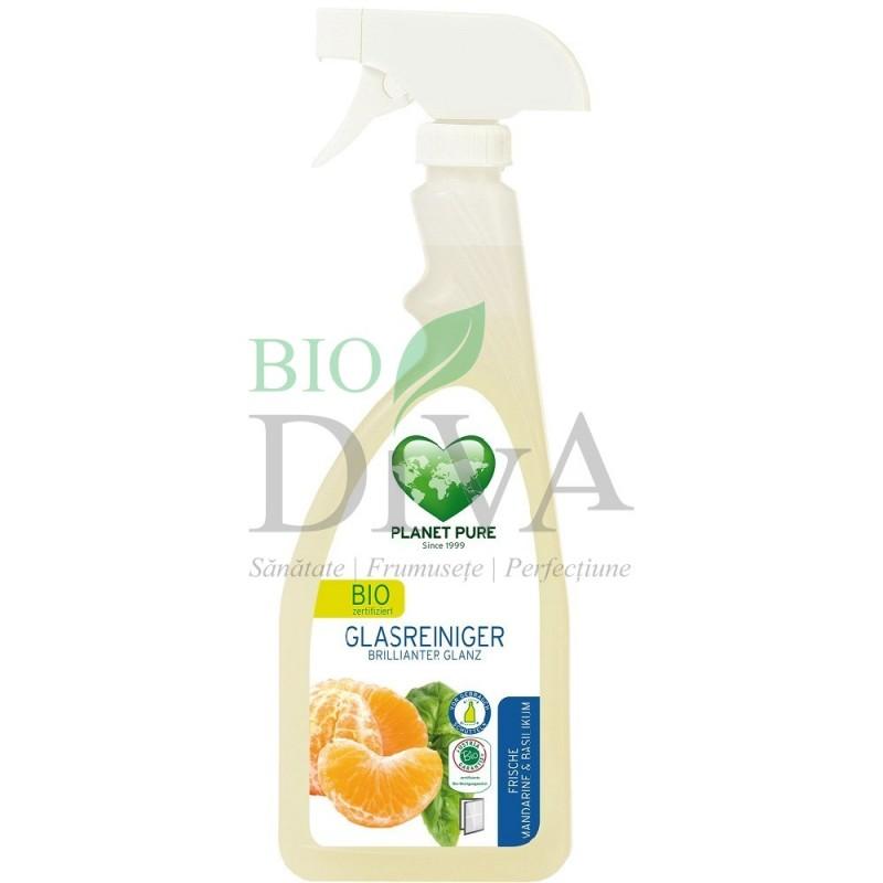Detergent spray pentru sticlă cu mandarine și busuioc Planet Pure