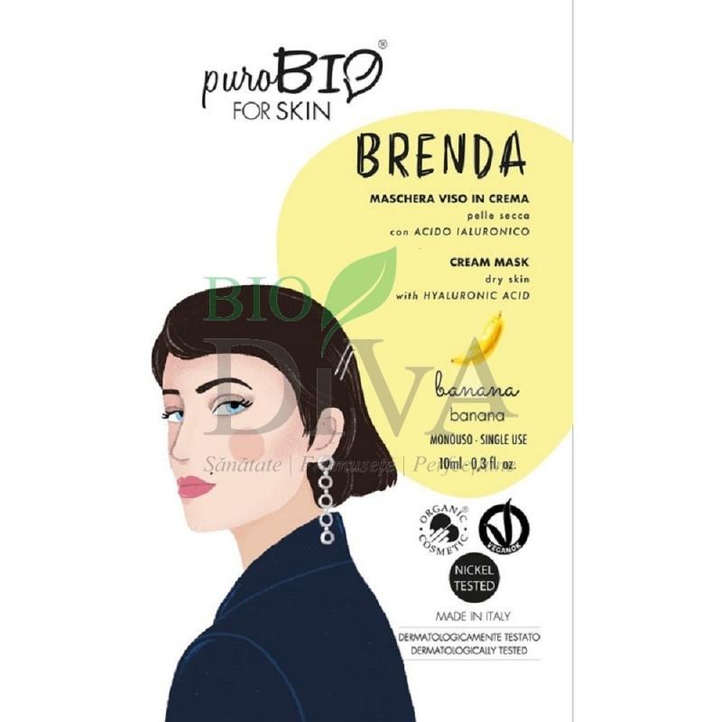 Mască cremă pentru ten uscat cu banane PuroBio Cosmetics