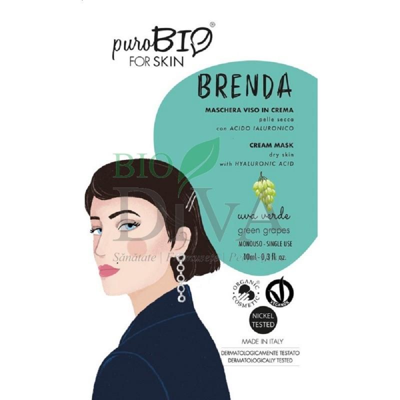 Mască cremă pentru ten uscat cu struguri verzi Brenda PuroBio Cosmetics