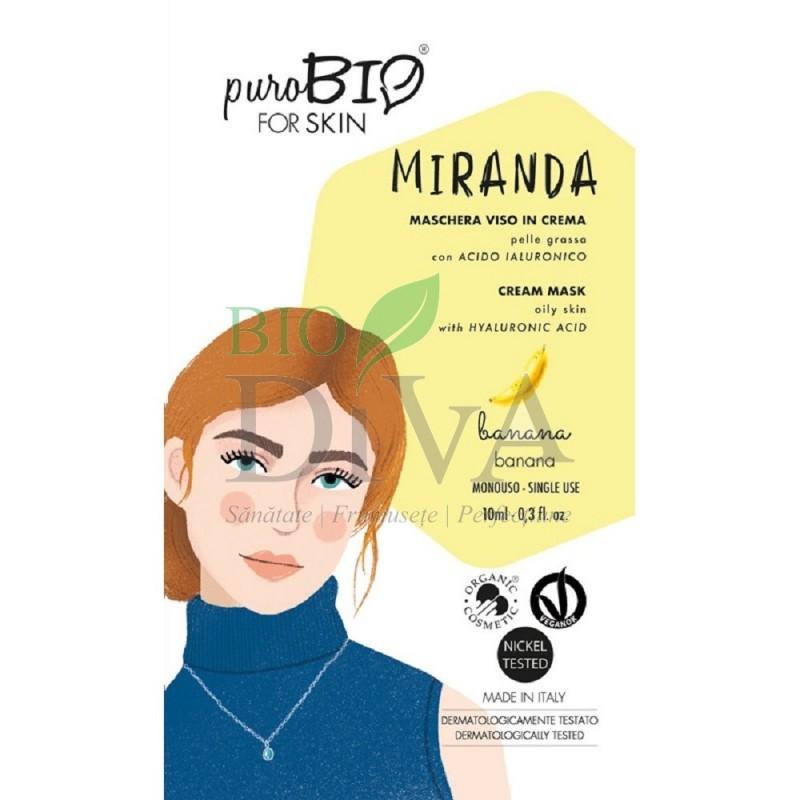 Mască cremă pentru ten gras cu banane Miranda PuroBio Cosmetics