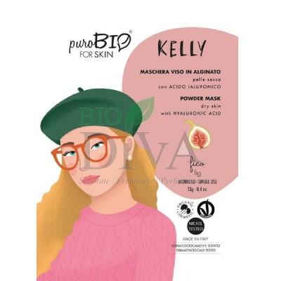 Mască peel-off pentru ten uscat cu smochine Kelly PuroBio Cosmetics