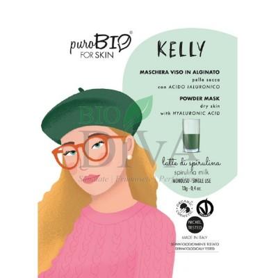Mască peel-off pentru ten uscat cu spirulină Kelly PuroBio Cosmetics