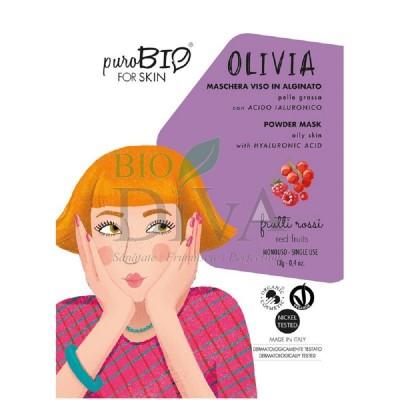 Mască peel-off pentru ten gras cu fructe roșii Olivia PuroBio Cosmetics