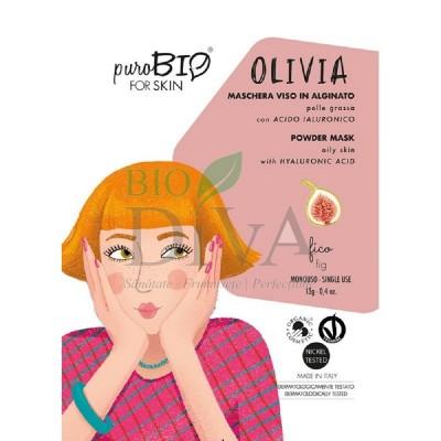 Mască peel-off pentru ten gras cu smochine Olivia PuroBio Cosmetics