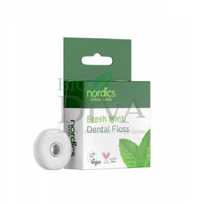 Ață dentară naturală cu aromă de mentă Nordics