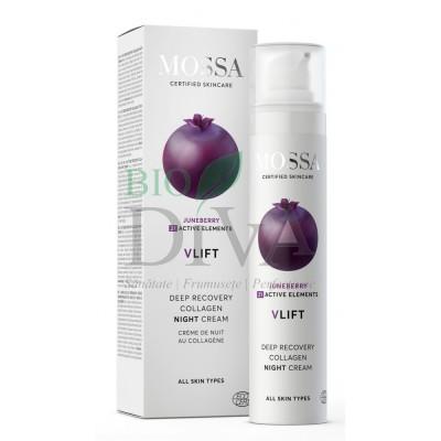 Cremă de noapte cu colagen Deep Recovery V Lift MOSSA