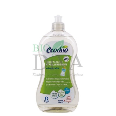 Detergent hipoalergenic biberoane și veselă bebeluși ECODOO
