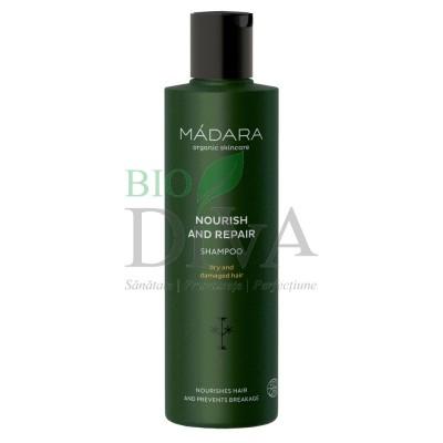 Șampon nutritiv și regenerant pentru păr uscat și deteriorat Madara