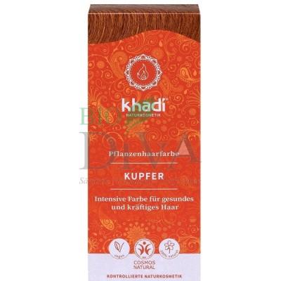 Vopsea de păr naturală Cupru Khadi