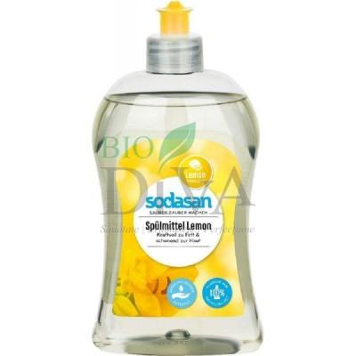 Detergent lichid ecologic pentru vase cu lămâie 300ml SODASAN