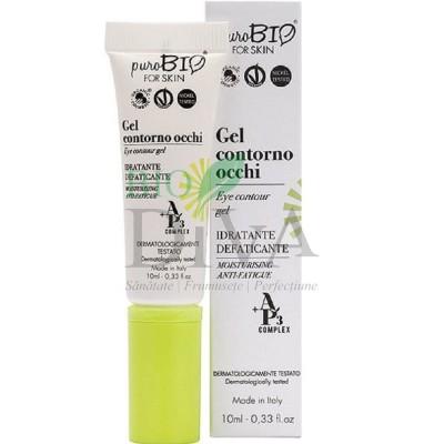 Gel pentru ochi hidratant anti-pungi PuroBio Cosmetics