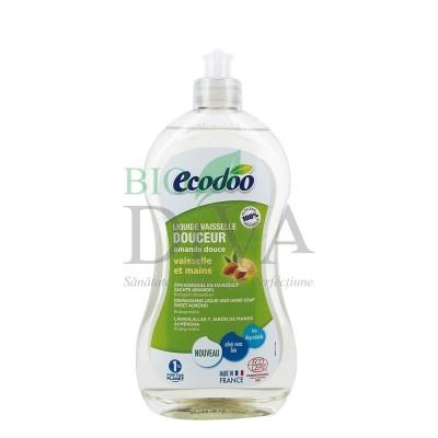 Detergent pentru vase și mâini cu aloe vera și migdale dulci Ecodoo
