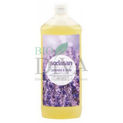 Săpun lichid și gel de duș ecologic cu lavandă și măsline 1L SODASAN