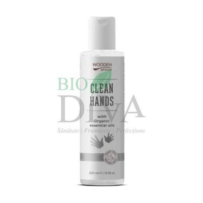 Dezinfectant de mâini natural Clean Hands Wooden Spoon