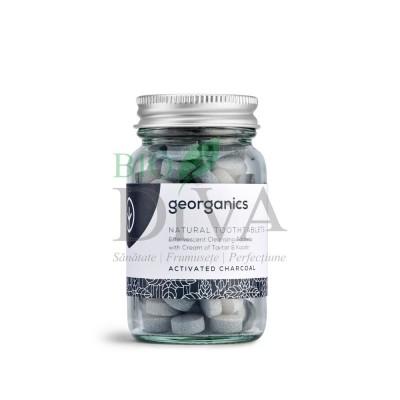 Tablete de pastă de dinți pentru albire Charcoal 120 buc Georganics
