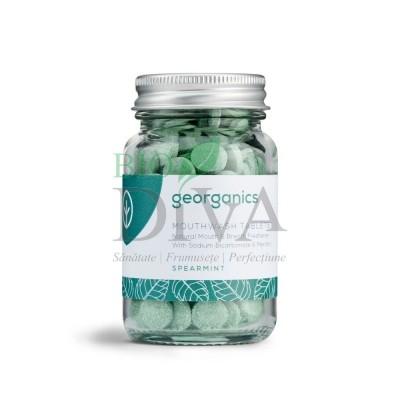 Tablete pentru igiena orală - apă de gură cu mentă English SpearMint 180buc Georganics