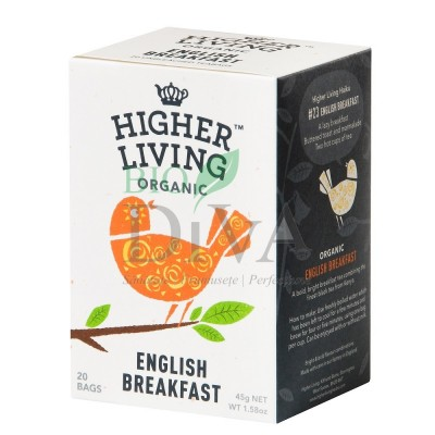 Ceai clasic negru English Breakfast 15 plicuri Higher Living