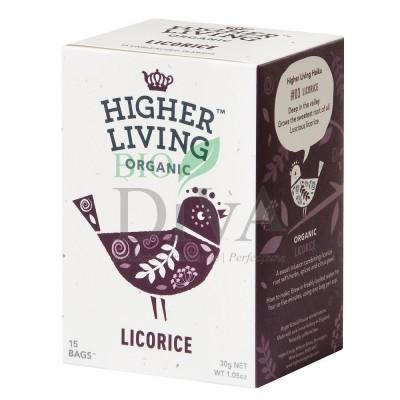 Ceai cu lemn dulce Licorice 15 plicuri Higher Living