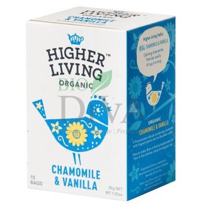 Ceai cu mușețel și vanilie Chamomile & Vanilla Higher Living