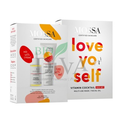 Set Love Yo Self: Ulei facial și Cremă multi-use Vitamin Cocktail Mossa