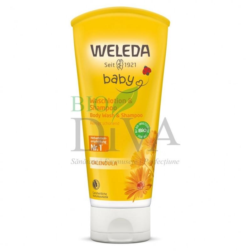 Loţiune de curăţare şi şampon cu gălbenele 200ml Weleda