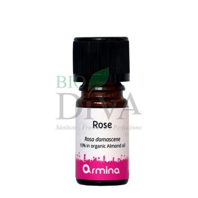 Ulei esențial de trandafir Rosa Damascena 5% în ulei de migdale 5ml Armina