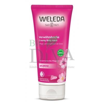 Loțiune de duș cu măceșe - trandafir sălbatic Weleda