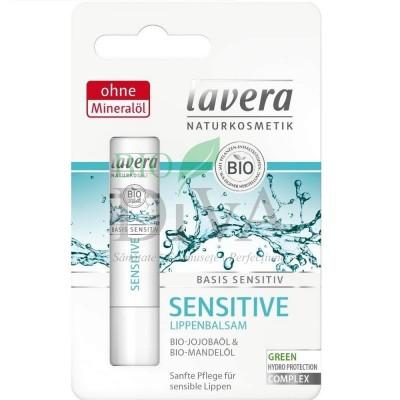 Balsam de buze bio sensitiv cu ulei de jojoba și migdale Basis Sensitiv 4,5g Lavera