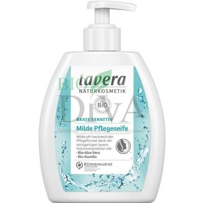 Săpun lichid cu aloe vera pentru piele sensibilă Basis Sensitiv 250ml Lavera
