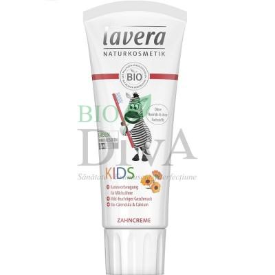 Pastă de dinți pentru copii cu gălbenele și calciu 75ml Lavera